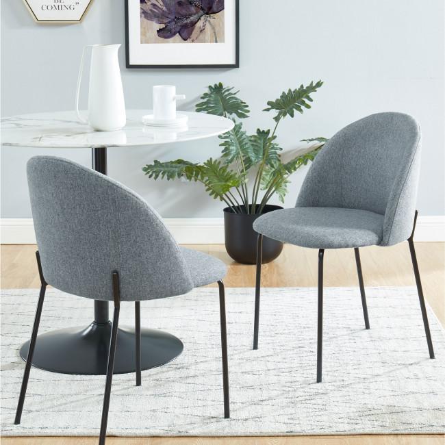 Slana - 2 chaises en tissu