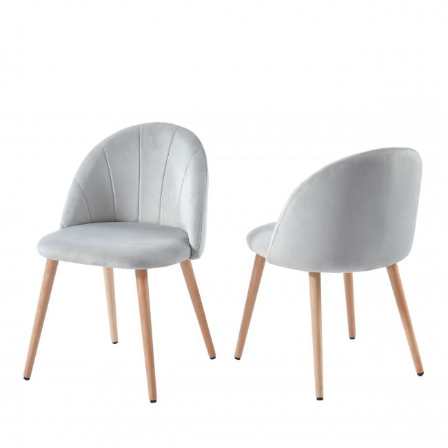 Roandola - 2 chaises en velours