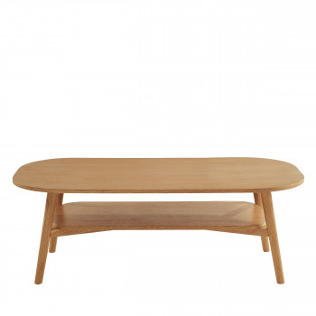 Grude - Table basse vintage en bois 120x60 cm