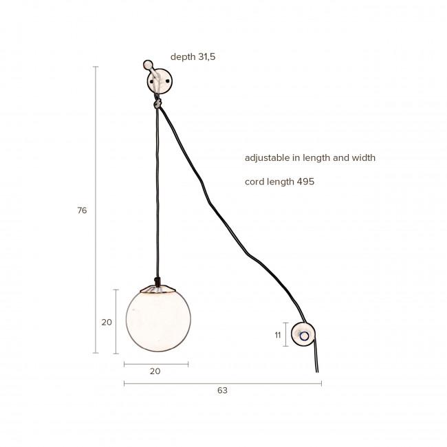 Bulan - Applique murale design boule
