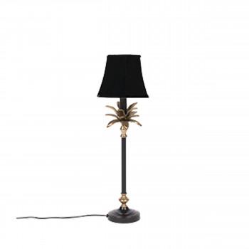 Cresta - Lampe à poser palmier en métal et velours