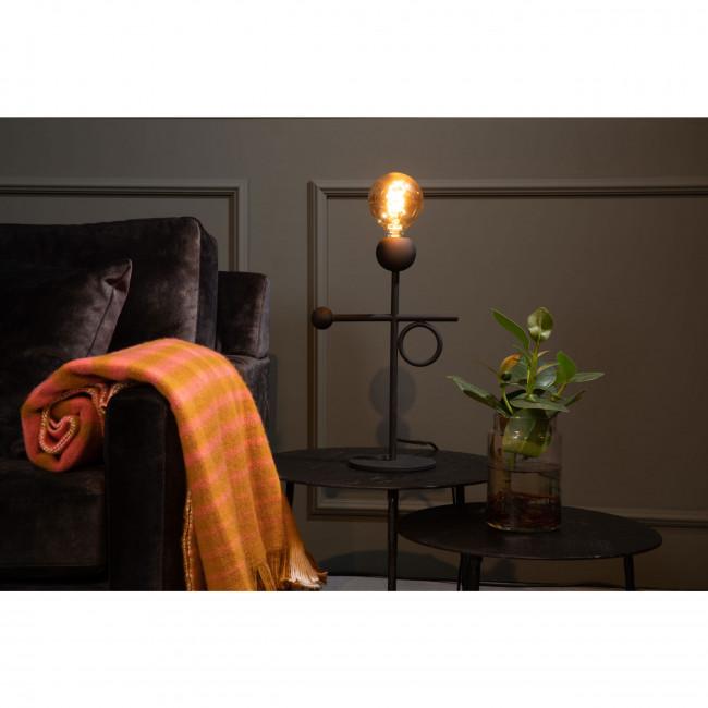 Loyd - Lampe à poser à franges en métal