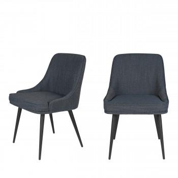 Magnus - 2 chaises en tissu