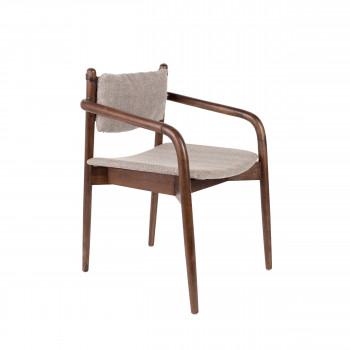 Torrance - Fauteuil de table en bois et tissu