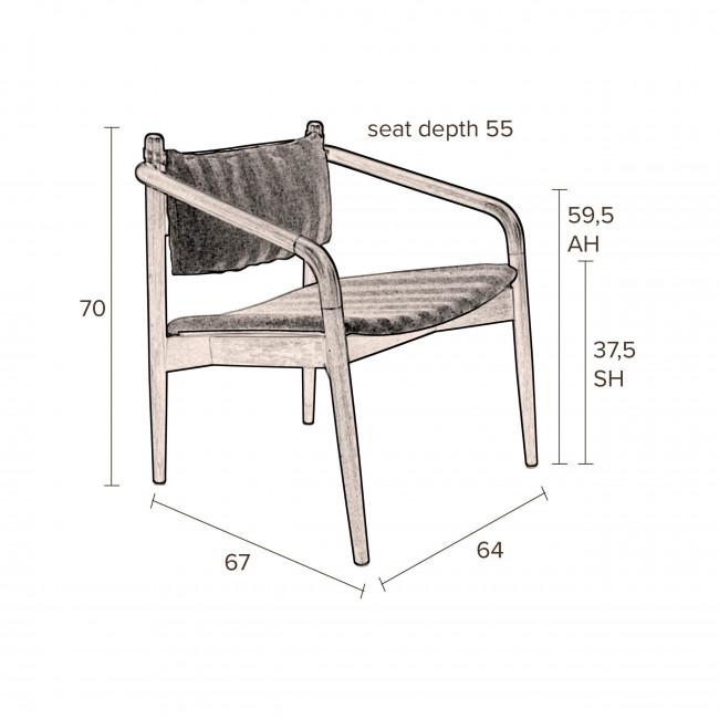 Torrance - Fauteuil en bois et tissu