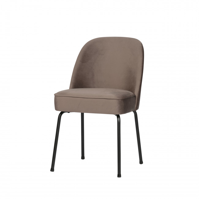 Lot de 2 chaises design en velours Vogue
