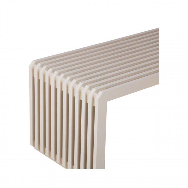 Boskoop - Banc à lattes en bois 96cm