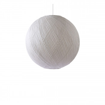 Hevesk - Suspension boule en bambou et papier