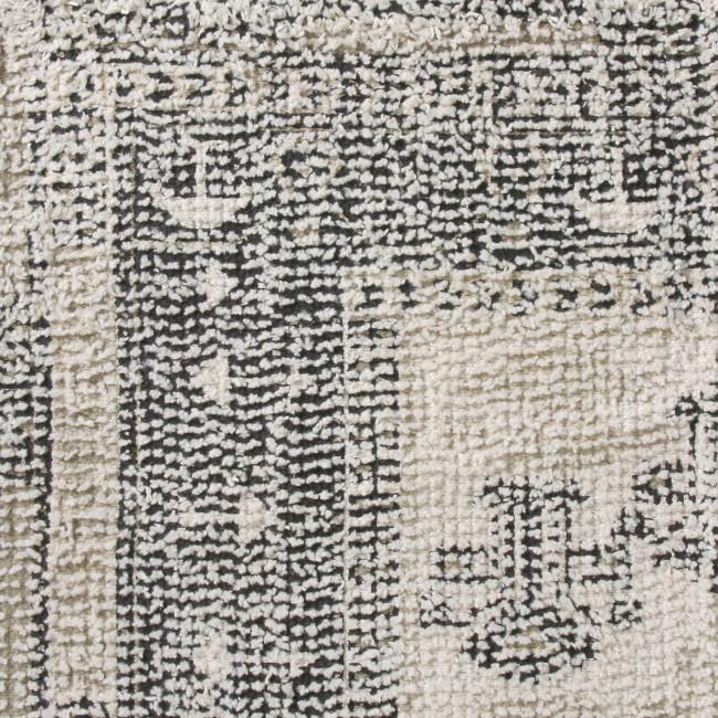 Morige - Tapis gris et écru d'inspiration orientale
