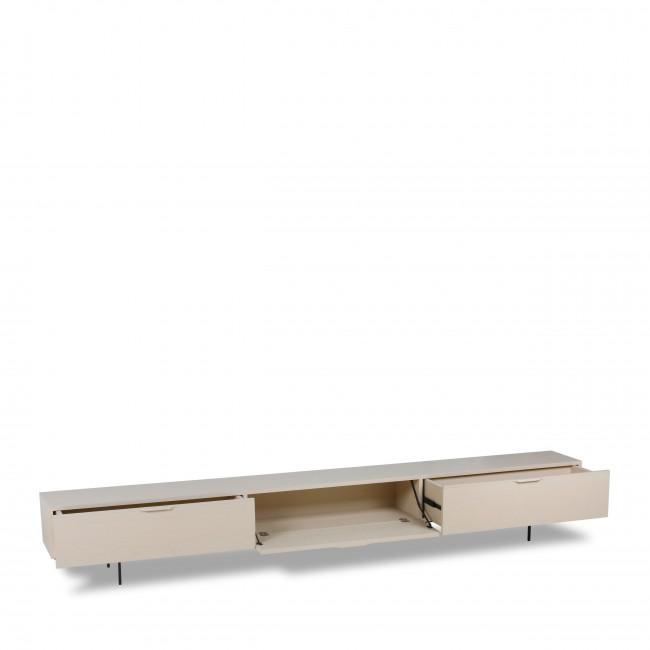 Papekop - Meuble TV 1 porte 2 tiroirs