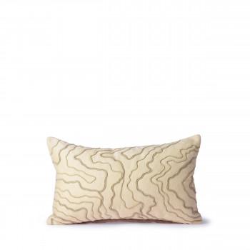 Vierelen - Coussin à motifs courbes 30x50cm