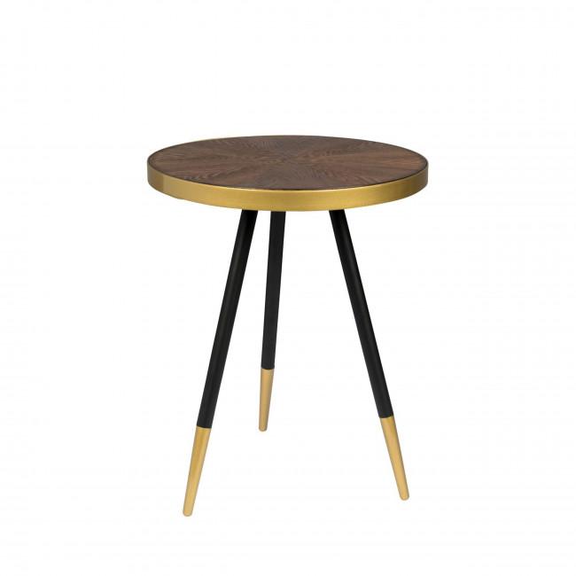 Denise - Table basse ronde en métal et bois ø44cm