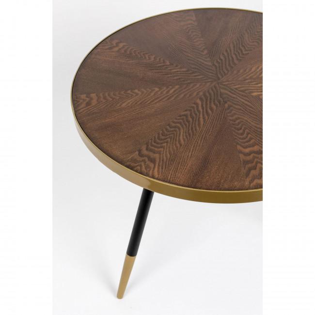 Denise - Table basse ronde en métal et bois ø61cm