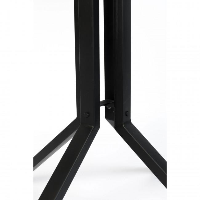 Maze - Table de bar carrée en bois et métal H93cm