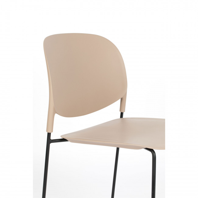 Stacks - 4 chaises en plastique