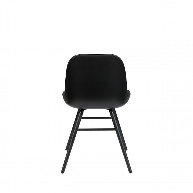 Albert Kuip - 2 chaises résine et bois pieds noirs