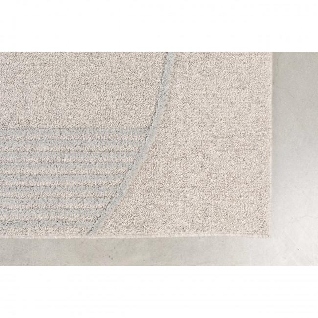 Bliss - Tapis design rectangle en tissu gris