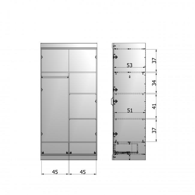 Aménagement intérieur Connect (armoire 2 portes 2 tiroirs)