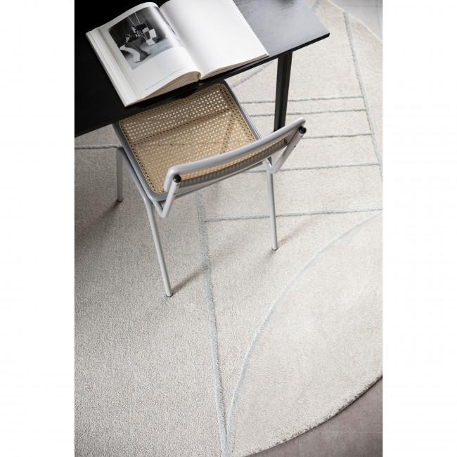 Bliss - Tapis design rond en tissu gris