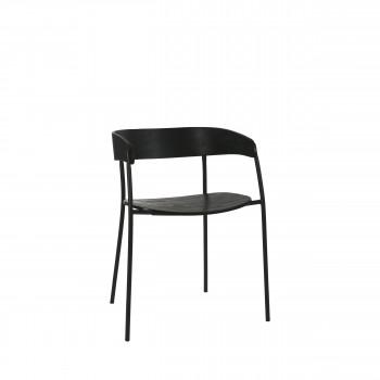 Oscar - Chaise en bois et métal