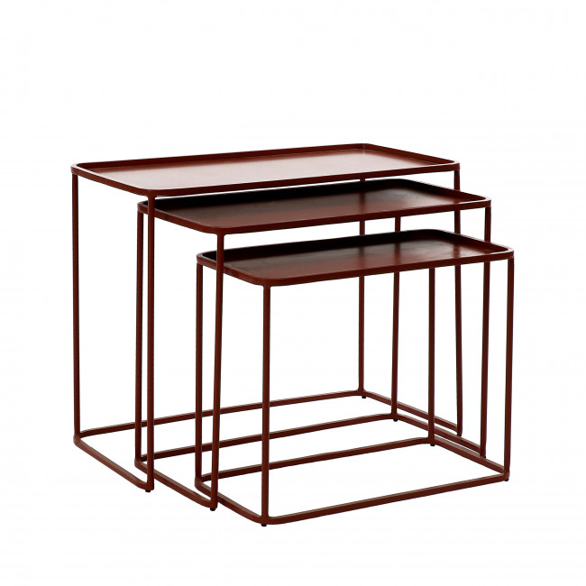 Century - 3 tables basses en métal