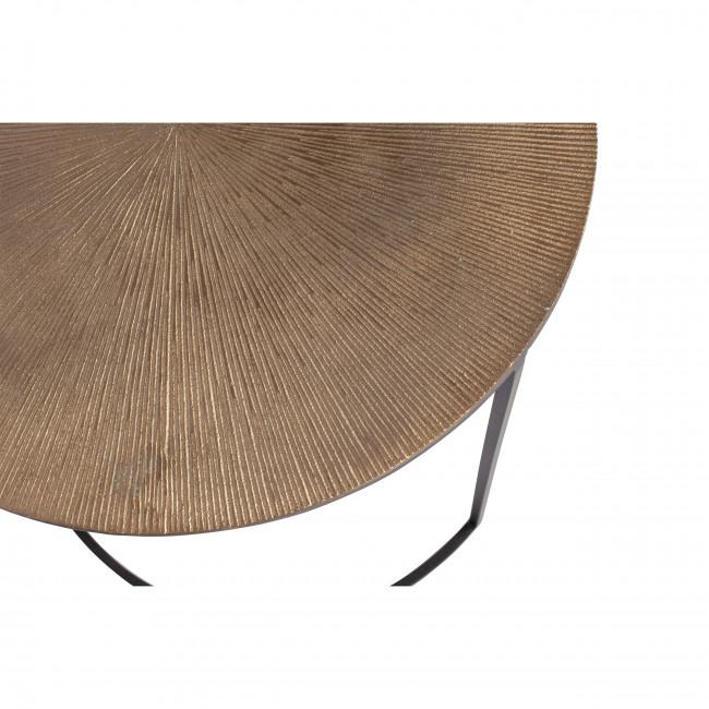Fara - 2 tables basses gigognes en métal