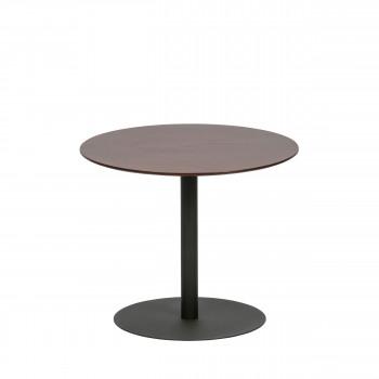 Odin - Table basse en métal et bois ø48cm