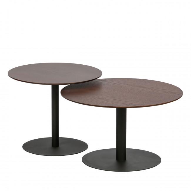Odin - Table basse en métal et bois ø60cm