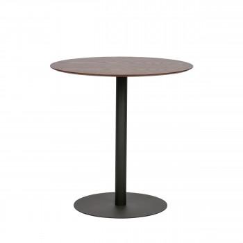 Odin - Table de bistrot en métal et bois ø75cm
