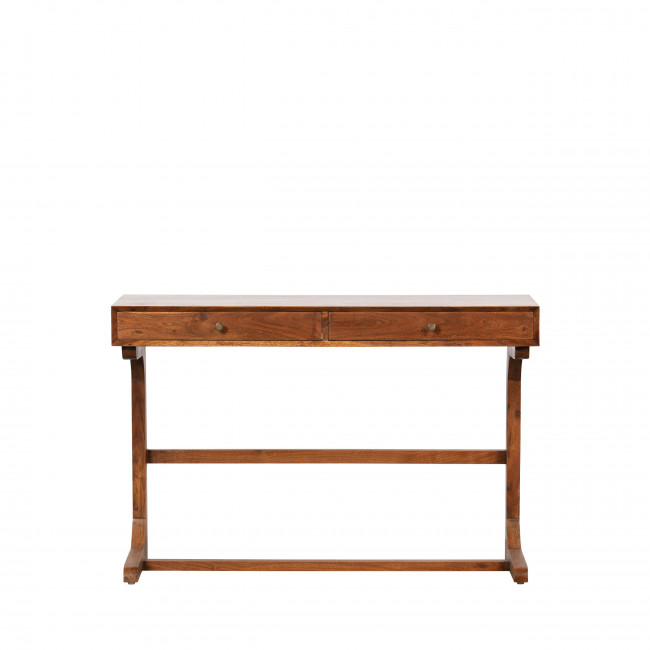 Old School - Bureau 2 tiroirs en bois