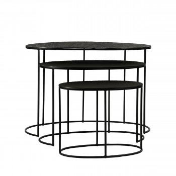 Coco - 3 tables basses gigognes en métal