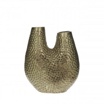 Marron - Vase forme organique en métal