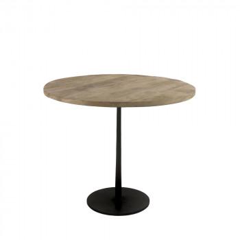 Bistro - Table de bistrot en bois et métal ø90cm