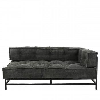 Birgit - Canapé d'angle droit en tissu et métal