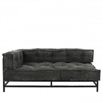 Birgit - Canapé d'angle gauche en tissu et métal