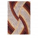 Upbeat - Tapis rectangle à motifs en velours marron