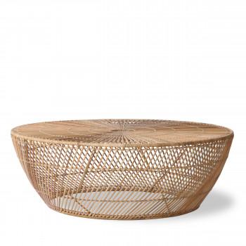 Teuge - Table basse ronde en osier ø100cm