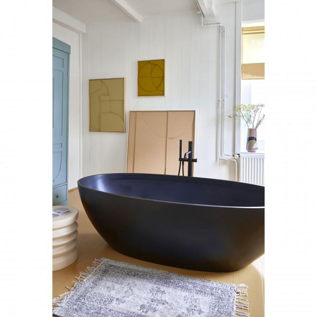 Oeken - Table basse ronde en grès ø38cm