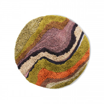 Gening - Tapis rond d'inspiration orientale