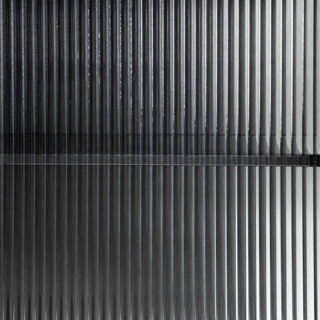 Trixie - Buffet 4 portes en métal et verre trempé