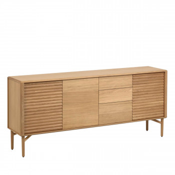 Lenon - Buffet 3 portes 3 tiroirs en bois