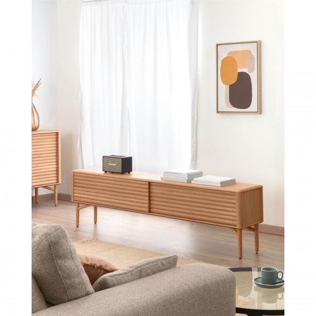 Lenon - Meuble TV 2 portes coulissantes en bois