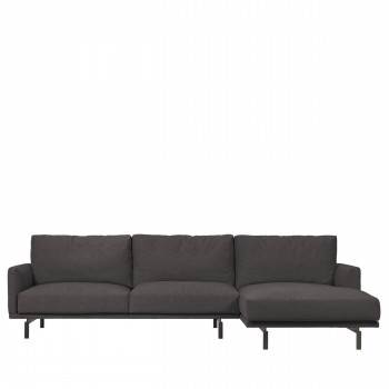 Galene - Canapé d'angle droit en tissu