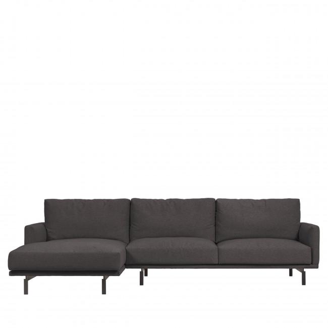Galene - Canapé d'angle gauche en tissu