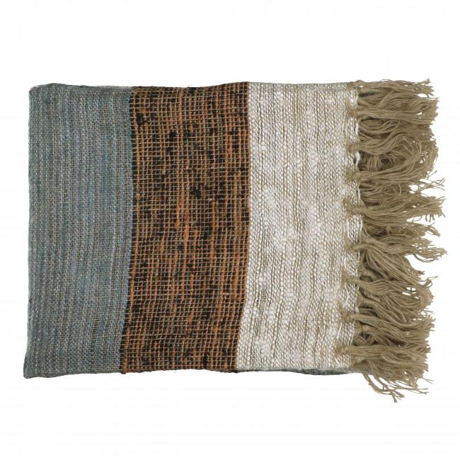 Zahir - Plaid rayé en coton 130x170cm