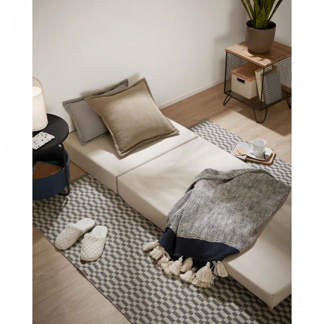 Ginnie - Plaid bicolore en coton 130x170cm