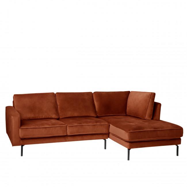 OSVALDO - Canapé d'angle droit velours