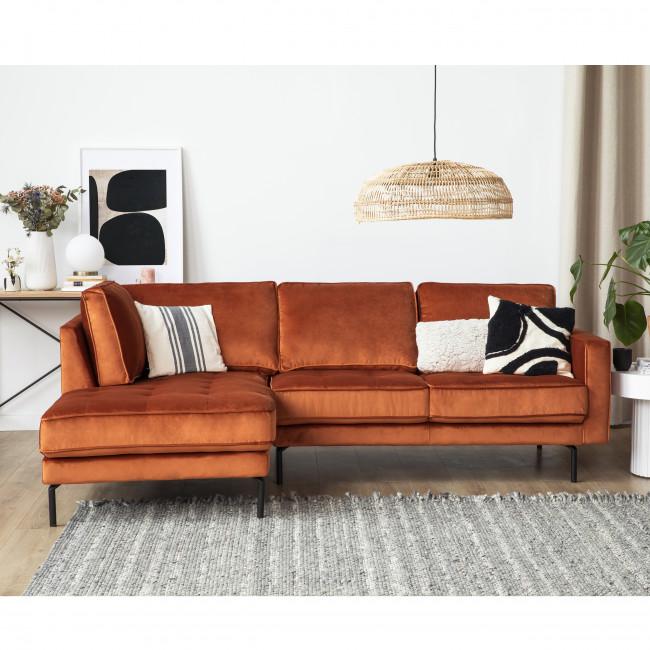 OSVALDO - Canapé d'angle gauche velours