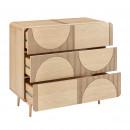 Lumanda - Commode 3 tiroirs design en bois