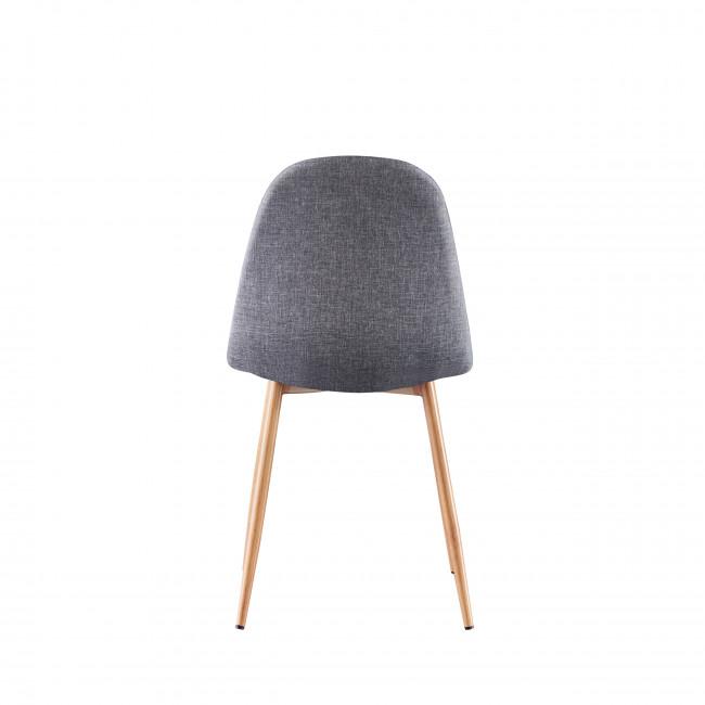 Vitikko - 2 chaises en tissu et pieds effet bois